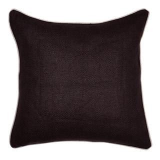 Cabas Linen Blend Brown 22-inch Throw Pillow