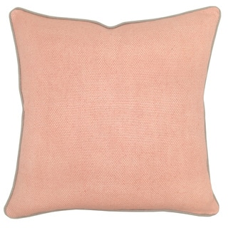 Quinn Linen Blend Blush 22-inch Throw Pillow