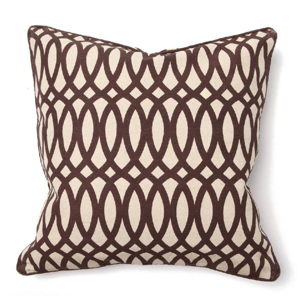 Kosas Collections 'Ellipse' Jute Blend Print Brown 22-Inch Throw Pillow