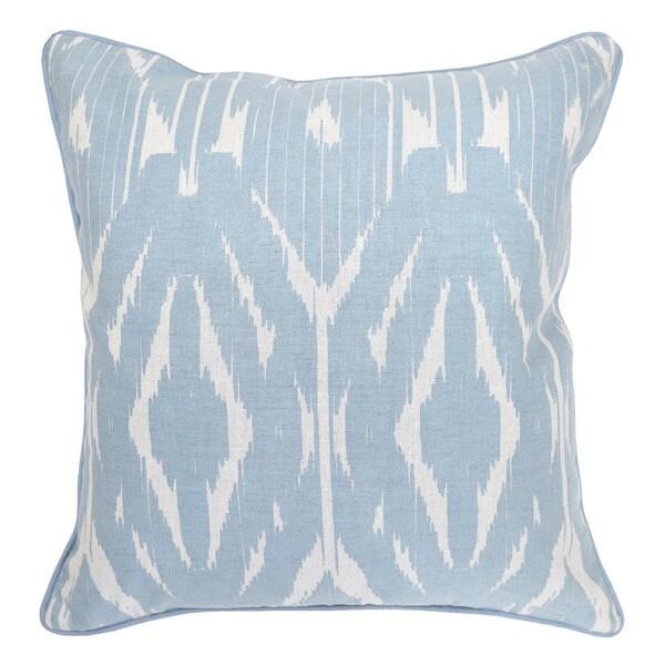 Leyla Linen blend Light Blue 22-inch Throw Pillow