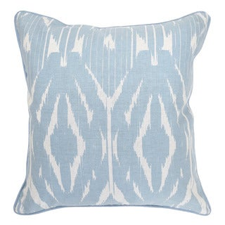 Leyla Linen blend Light Blue 22-inch Throw Pillow
