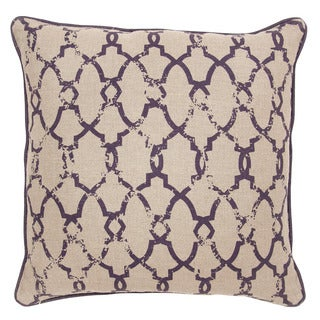 Shaw Linen Plum 22-inch Throw Pillow