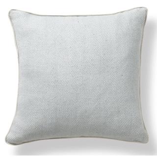 Sasha Linen Blend Weave Marine 22-inch Throw Pillow