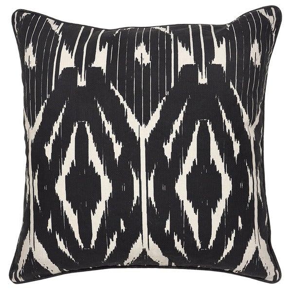 Leyla Linen Blend Black 22-inch Throw Pillow