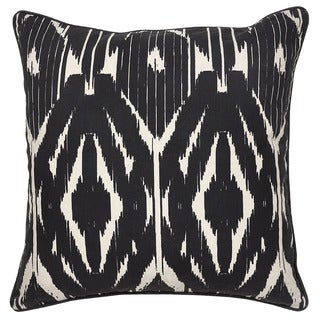 Leyla Linen Blend Black 22-inch Throw Pillow