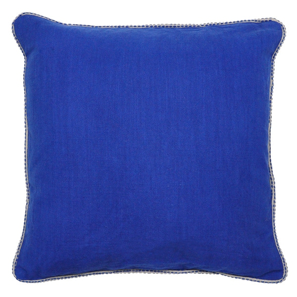 Varina Dark Blue 22-inch Throw Pillow