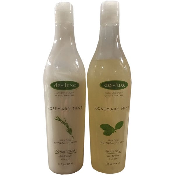 De Luxe Rosemary Mint 14-ounce Shampoo and Conditioner Set