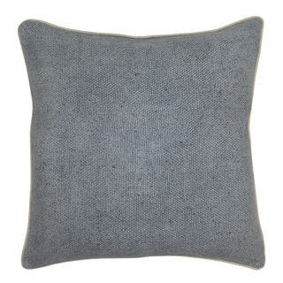Kosas Home Quinn Linen Blend Slate Blue 22-inch Throw Pillow
