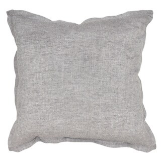 Arabella Linen Charcoal 22-inch Throw Pillow