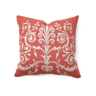 Rulla Linen Red 22-inch Throw Pillow