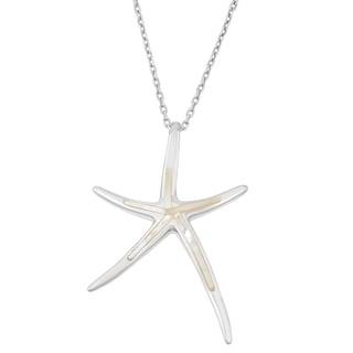 La Preciosa Sterling Silver Mother of Pearl Starfish Pendant