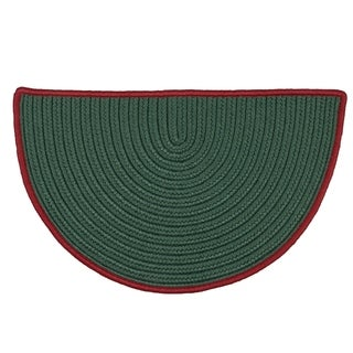 Winter Slice Green Holiday Rug (2' x 3')