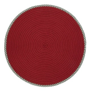 Twisted Round Red Christmas Rug (3' x 3')