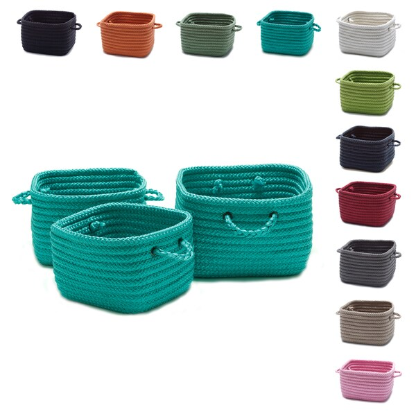 Shelf Storage Baskets with Handles