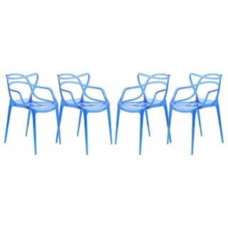 Milan Blue Wire Chair (Set of 4)