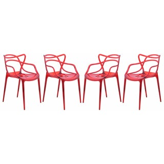 Milan Red Wire Chair (Set of 4)