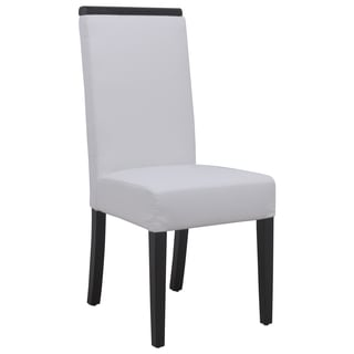 Somette Elroy White Faux Leather Dining Chair