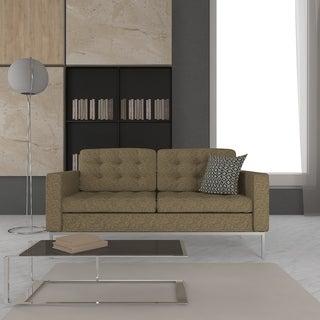 LeisureMod Lorane Oatmeal Studio Sofa