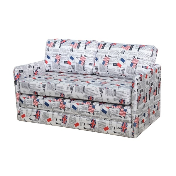 adeco fabric fiber sofa bed sofa bed lounge living room seat