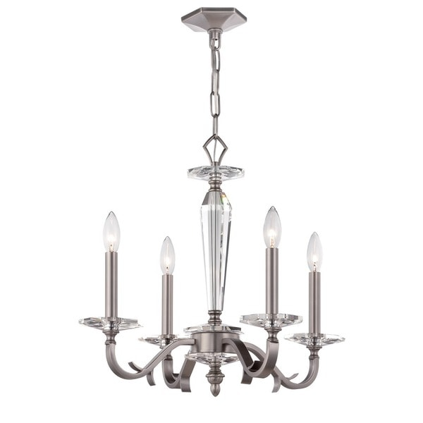 Crystorama Hugo Collection 4-light Pewter Chandelier