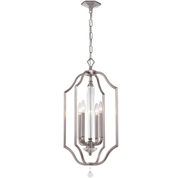 Crystorama Hugo Collection 4-light Pewter Pendant 16586228