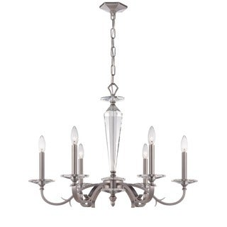 Crystorama Hugo Collection 6-light Pewter Chandelier
