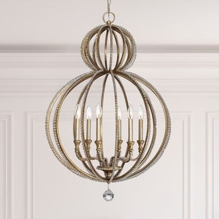 Crystorama Garland Collection 6-light Distressed Twilight Chandelier