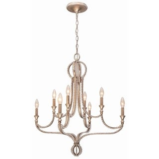 Crystorama Garland Collection 8-light Distressed Twilight Chandelier