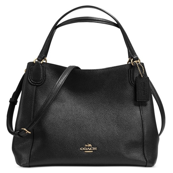 Coach Pebble Leather Edie 28 Shoulder Bag