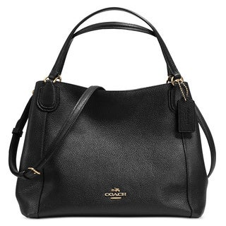 Coach Pebble Leather Edie 28 Shoulder Bag