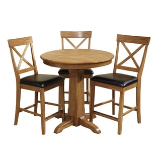 Family Dining Chestnut Round Gathering Table