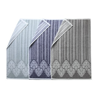 Authentic Hotel and Spa Margot Turkish Cotton Jacquard Bath Towel (Set of 2)