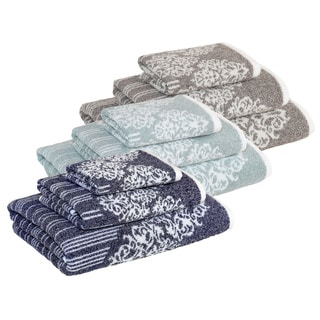 Authentic Hotel and Spa Margot Turkish Cotton Jacquard 3-piece Bath Towel Set