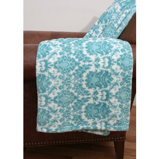 Darla Damsk Fleece Throw