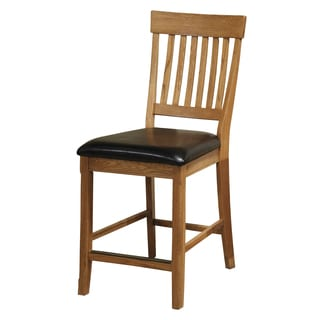 Family Dining Chestnut Slat Back Bar Stool Set of 2