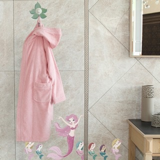Sweet Kids Pretty Pink Turkish Cotton Hooded Terry Bathrobe
