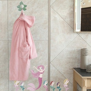 Sweet Kid's Pretty Pink Turkish Cotton Hooded Terry Bathrobe