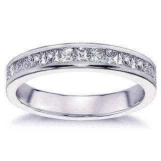 14k Gold or Platinum 3/4ct TDW Princess-cut Diamond Channel Setting Wedding Band (G-H, SI1-SI2)