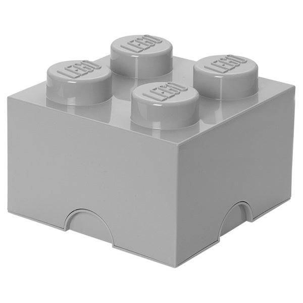 LEGO Stone Grey Storage Brick 4 Medium