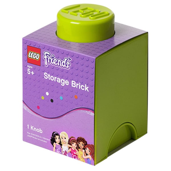 LEGO FRIENDS Storage Brick 1, Bright Yellowish Green/Lime