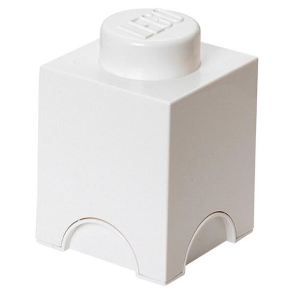 LEGO White Storage Brick 1