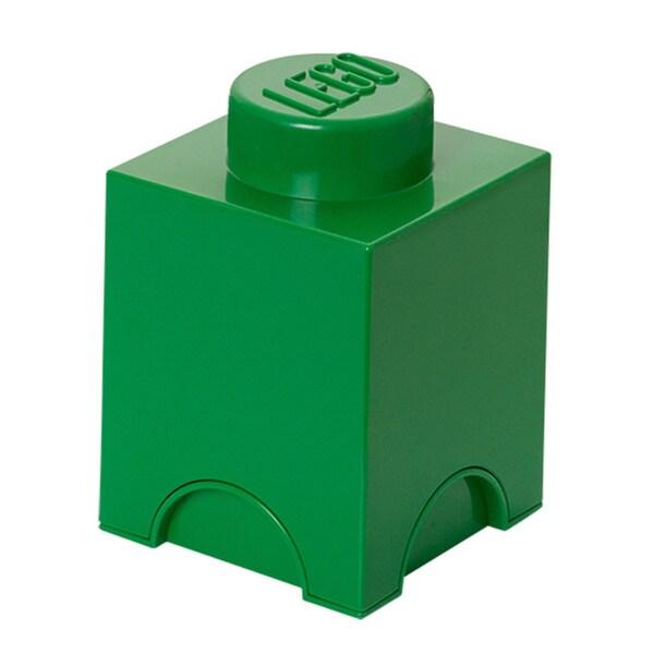 LEGO Dark Green Storage Brick 1