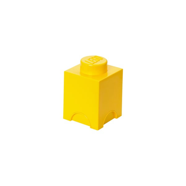 LEGO Yellow Storage Brick 1