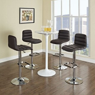 Ripple Adjustable Vinyl Bar Stools (Set of 2)