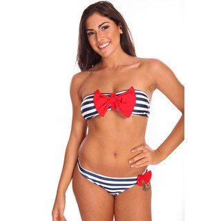 Dippin' Daisy's Women's Striped Bow Bandeau Bikin