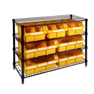Seville Classics 4-Shelf Commercial Bin Rack System