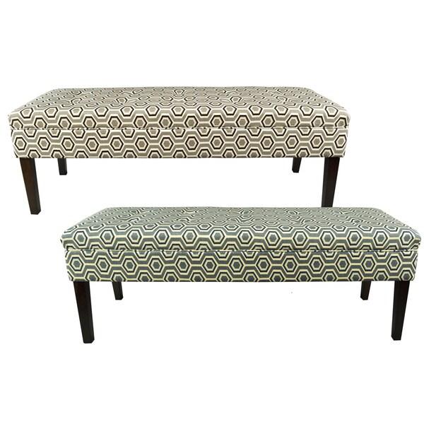 Kaya Cott Ashton Linen-button Tufted Upholstered Long Bench