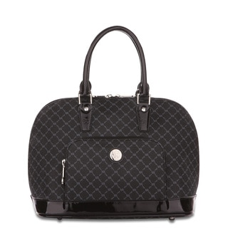RIONI Signature Shiny Black Dome Handle Bag