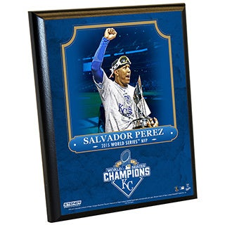 Kansas City Royals 2015 World Series Championship Series MVP 8x10 Plaque