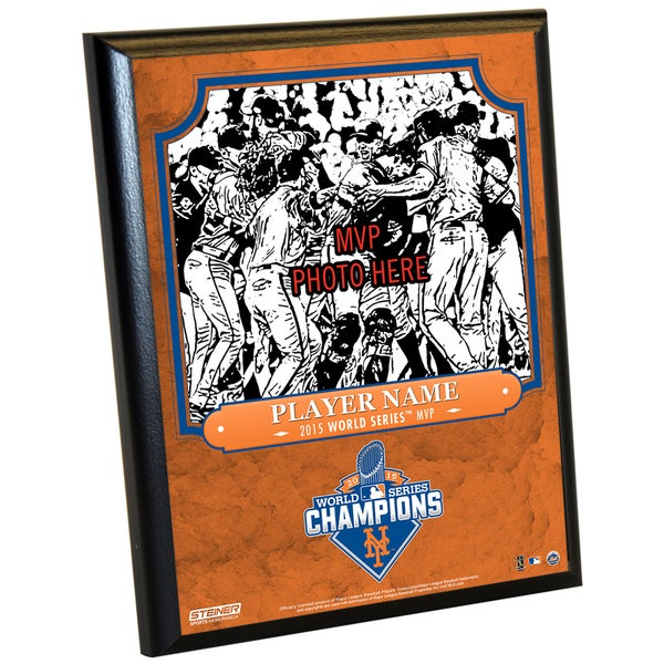 New York Mets 2015 World Series Championship Series MVP 8x10 Plaque